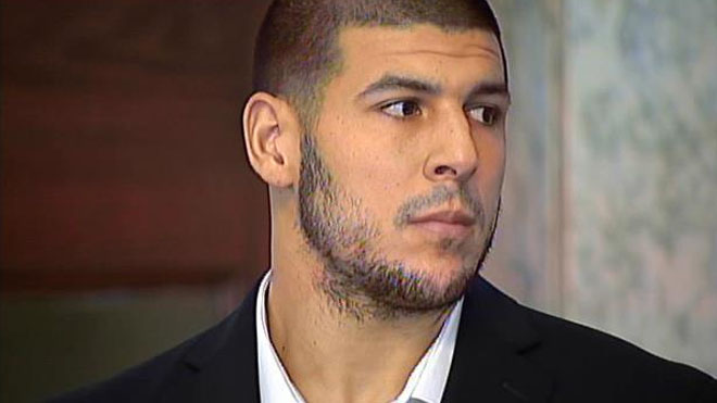 Aaron Hernandez appears in court on July 24, 2013. (Photo: MyFoxBoston.com)