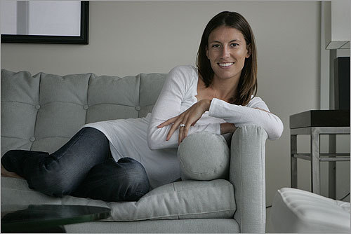 Dustin's wife Kelli.  (Photo: Suzanne Kreiter/Boston Globe)