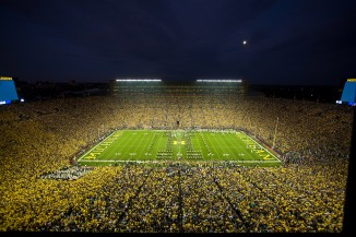 The Big House under the lights takes center stage this evening.
